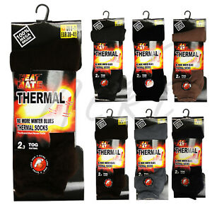Mens Warm Thermal Socks Black Winter Outdoor Work Extra Thick Heavy Duty Warm
