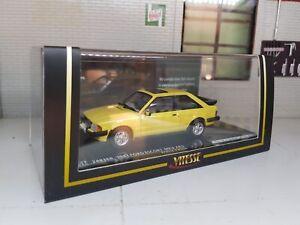 1:43 Scale Model Ford Escort XR3 Mk3 Ltd Edition 1981 Yellow Vitesse Diecast Car