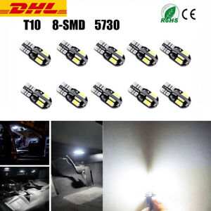 10x CANBUS T10 SMD LED Licht Auto Lampe Standlicht Innenraum Beleuchtung 12V