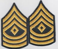 GENUINE FIRST SERGEANT US ARMY CHEVRONS RANK PATCH LOT PAIR E-6 VIETNAM MILITARY