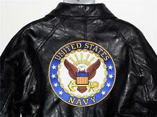 """TOP GUN US Navy USN SEAL Sew On 10"""" Diameter Embroidered JACKET BACK PATCH New"""