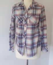 PEACOCKS CLASSIC COLLAR BUTTON SHIRT PASTEL CHECK LONG/ROLL-TAB SLEEVE SIZE 10