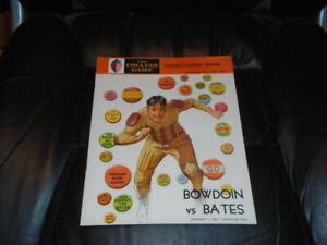 1968 BOWDOIN AT BATES COLLEGE FOOTBALL PROGRAM EX-MINT