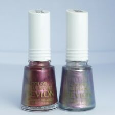 Revlon Color Illusion Nail Polish Silver Switch Mocha Mirage Duochrome Lot of 2