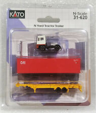 Kato N 31620 White Yard Tractor Trailer w/ 40' Container & Chassis. New