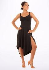 NWT Dance Mirella Black Tank Skirted Leotard Dress Ladies Small Adult M1017