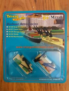 Triang Ships 1-1200 Container Crane Units Harbour bits mib