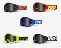 100% ACCURI SAND Goggles -ALL COLORS- Offroad MX Motocross - SMOKE LENS