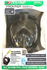 Dolfino Frontier All-in-one Full Face Snorkel Mask - Adult(Small/Medium) - New