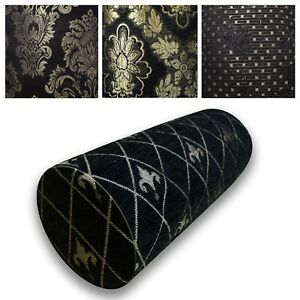 Bolster Cover*Damask Chenille Neck Roll TubeYoga Massage Pillow Case Custom*Wk10