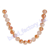 15Pcs Round 96 Faceted Crystal Jewelry Glass Charms Spacer Beads 8mm Findings
