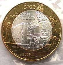 Mexico 2006 MORELOS 100 Pesos Bimetal Silver Coin,UNC