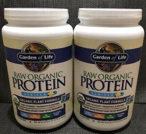 (5) Garden of Life Raw Organic Protein Vanilla Powder 29.72 oz - Best By 02/2020