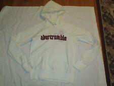 Abercrombie Moose Hoodie Sweatshirt Girls Size XL 16 White Youth