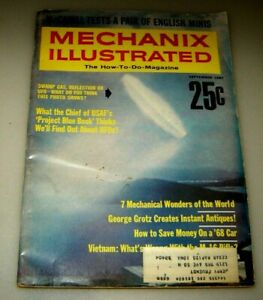 MECHANIX ILLUSTRATED, September 1967, Cover: UFOs, PROJECT BLUE BOOK