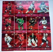 2019-20 UD TIM HORTON'S Hockey Cards -RED PARALLEL DIE CUT COMPLETE SET DC1-DC33
