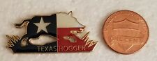 TEXAS HOGGER Lapel Pin  /  WILD HOG HUNT IN TEXAS