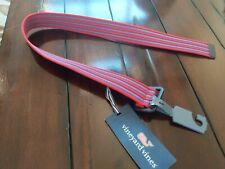 NEW Vineyard Vines Boys Fine Stripe Tech Belt Patriot Red Blue SM SMALL S $45
