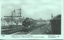 Pamlin repro photo postcard M827 Charing Cross Hastings train Redhill 1952