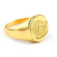 The Secret Service Ring Brass Movie Signet Kingsman Titanium with Box Kingsman