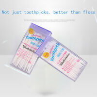 100 pc Tooth Stick Dental Floss Rods Brush Stick Dental Oral Care Clean Te NP YK