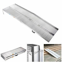 8FT Fold Portable Aluminum Wheelchair Ramp Mobility Threshold Handicap Suitcase