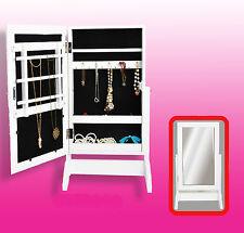 Schmuckschrank/Spiegelschrank/Standspiegel weiß Holz