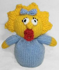 KNITTING PATTERN - Maggie Simpson inspired chocolate orange cover / 16 cms toy