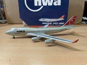 Northwest 747-400 1:400 (Reg N676NW) GJNWA406 Gemini Jets