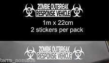 Large ZOMBIE RESPONSE Stickers, Decal, Land Rover, 4x4, Funny,