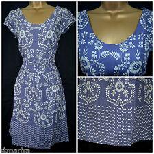 "WHITE STUFF ""SUMMER BLOSSOM"" DRESS FLORAL TEA DRESS BLUE LILAC MAUVE POLKA 8 -18"