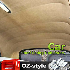 1.5 x 8M SUV Car Roof Headliner Upholstery Interior Suede Headlining Dark Beige