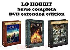 LO HOBBIT-TRILOGIA COMPLETA EXTENDED EDITION-15 DVD-3 COFANETTI SINGOLI ITA
