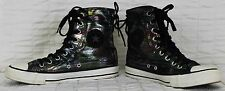 Converse All Stars Sz 9 Shimmer Rainbow Hi Top Shoes Black Metallic Slouchy