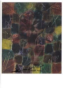 Kunstpostkarte  - Paul Klee:  Kosmische Komposition