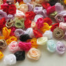 100pcs Satin Ribbon Flower Rose craft/wedding appliques Lots U pick A602