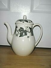 Wedgwood Napoleon Ivy Black ~ Coffee Pot ~ 1st Quality ~ Excellent Condition
