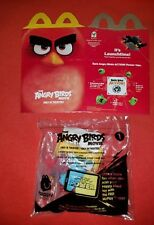 ANGRY BIRDS MOVIE RED CHARACTER LAUNCHER TOY #1 McDONALD's HAPPY MEAL + FLAT BOX