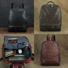 Genuine Leather Backpacks Rucksack Vintage Unisex Laptop Bags Briefcases Handbag