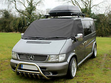 Mercedes Benz Vito Front Window Screen Cover Black Out Blind Frost Wrap Curtain