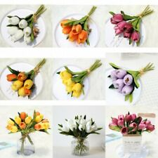 7 Heads Tulip Artificial Flowers Plants Wedding Holding Flowers Home Art Decor