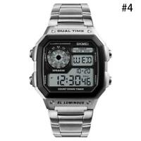 Hot Men's LED Digital Alarm Stainless Steel Sport Watch Military Wristwatch A