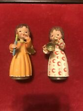 Two 3.5� Anri Toriart Music Angels. In Mint Condition With Tags