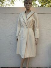 Gorgeous Syble Vintage 50's Cream Color Wool Coat Sz 36/4