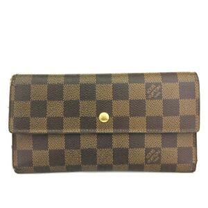 Louis Vuitton Damier Porte Tresor International Trifold Long Wallet /C1264
