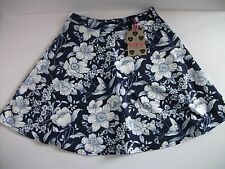 BOOHOO Navy Floral Scuba Skater Skirt Size 10/38 NEW WITH TAG FREE POST