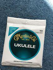 Martin M600 Clear Fluorocarbon Ukulele Strings Soprano /Concert Gauge String Set