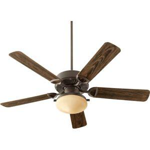 Quorum Estate Patio 2 Light Ceiling Fan, Oiled Bronze - 143525-986