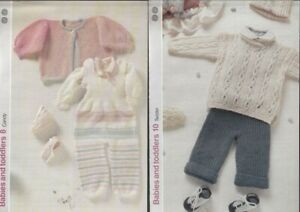 Knitting Patterns (2)  Baby's Outfit,& Plain Ribbed Top &Trousers