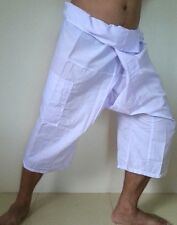 YOGA Massage Thai Fisherman Pants 3/4 Length Pocket Wrap Men & Women Free Size